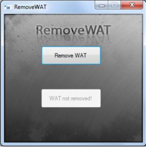 remove WAT